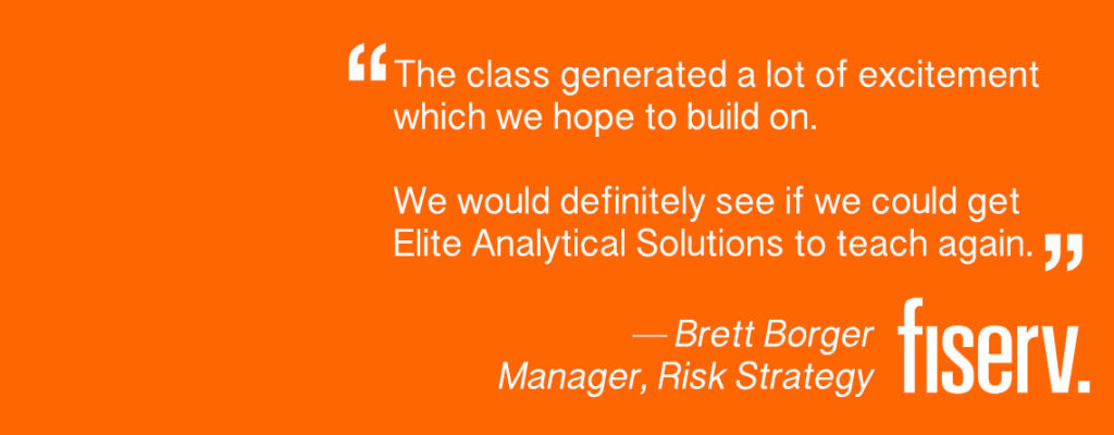 Fiserv Elite Analytical Solutions Training quote